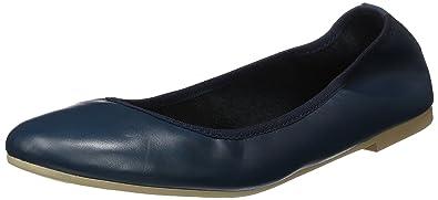Tamaris Damen 22128 Geschlossene Ballerinas, Blau (Navy Leather), 39 EU