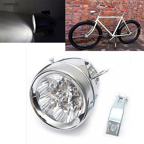 Motor-acc - Faros Delanteros para Bicicleta (Metal, 7 ledes, con ...