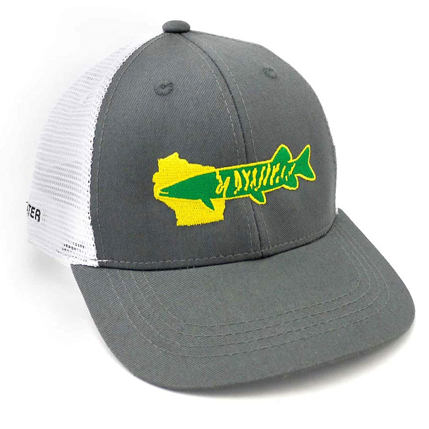 bcd704c1da893 Amazon.com   Rep Your Water Wisconsin Muskie Hat   Sports   Outdoors