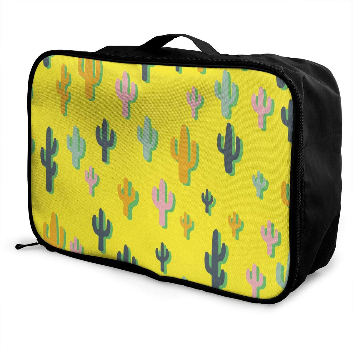 YueLJB Colorful Cactus Lightweight Large Capacity Portable Luggage Bag Travel Duffel Bag Storage Carry Luggage Duffle Tote Bag
