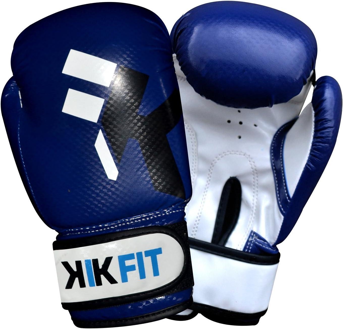 KIKFIT Niños petaca de 6 oz Petaca de Piel Guantes de Boxeo Junior niños MMA Sparring Boxeo Guantes Muay Thai Training: Amazon.es: Deportes y aire libre