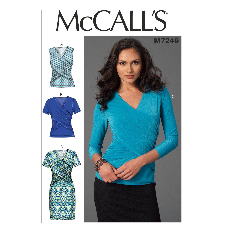 MCCALL \'s Patterns mc7249e5 tamaños 14/16/18/20/22 para Blusas y ...
