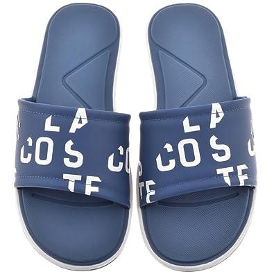 7ca8b1b6e42a Blue Mens Lacoste L30 Slide Flip Flops Blue  Amazon.co.uk  Shoes   Bags