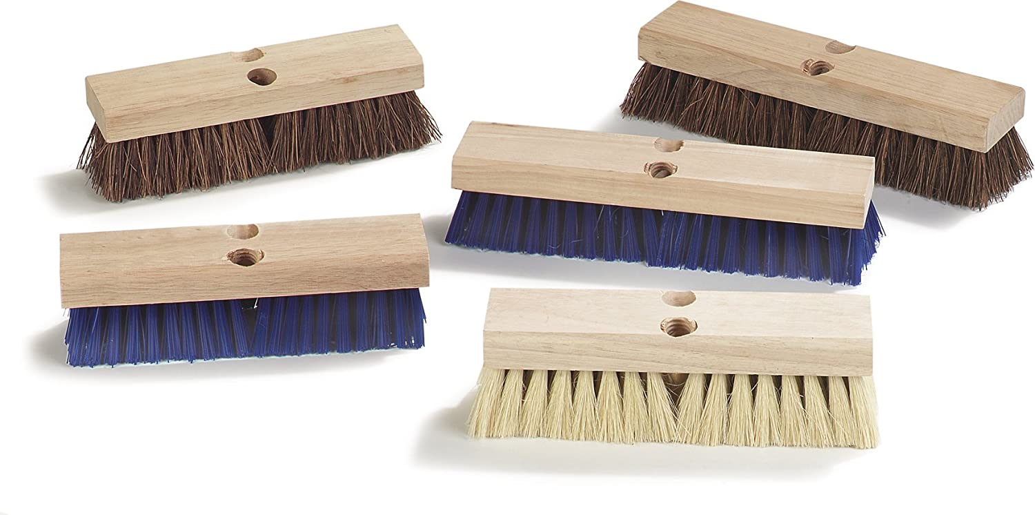 Blue Case of 12 10 Length x 2-3//4 Width 2 Bristle Trim 10 Length x 2-3//4 Width Carlisle Corporation 2 Bristle Trim Carlisle 3617514 Flo-Pac Hardwood Block Stiff Deck Scrub Polypropylene Bristles