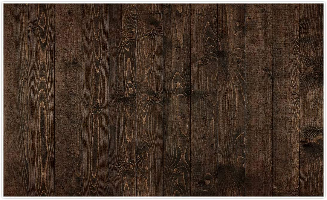 Allenjoy 5x3ft Rustic Brown Wood Backdrop for Portrait Food Photography Pictures Wooden Board Planks Vintage Child Baby Shower Still Life Birthday Party Supplies Decorations Background Banner Props