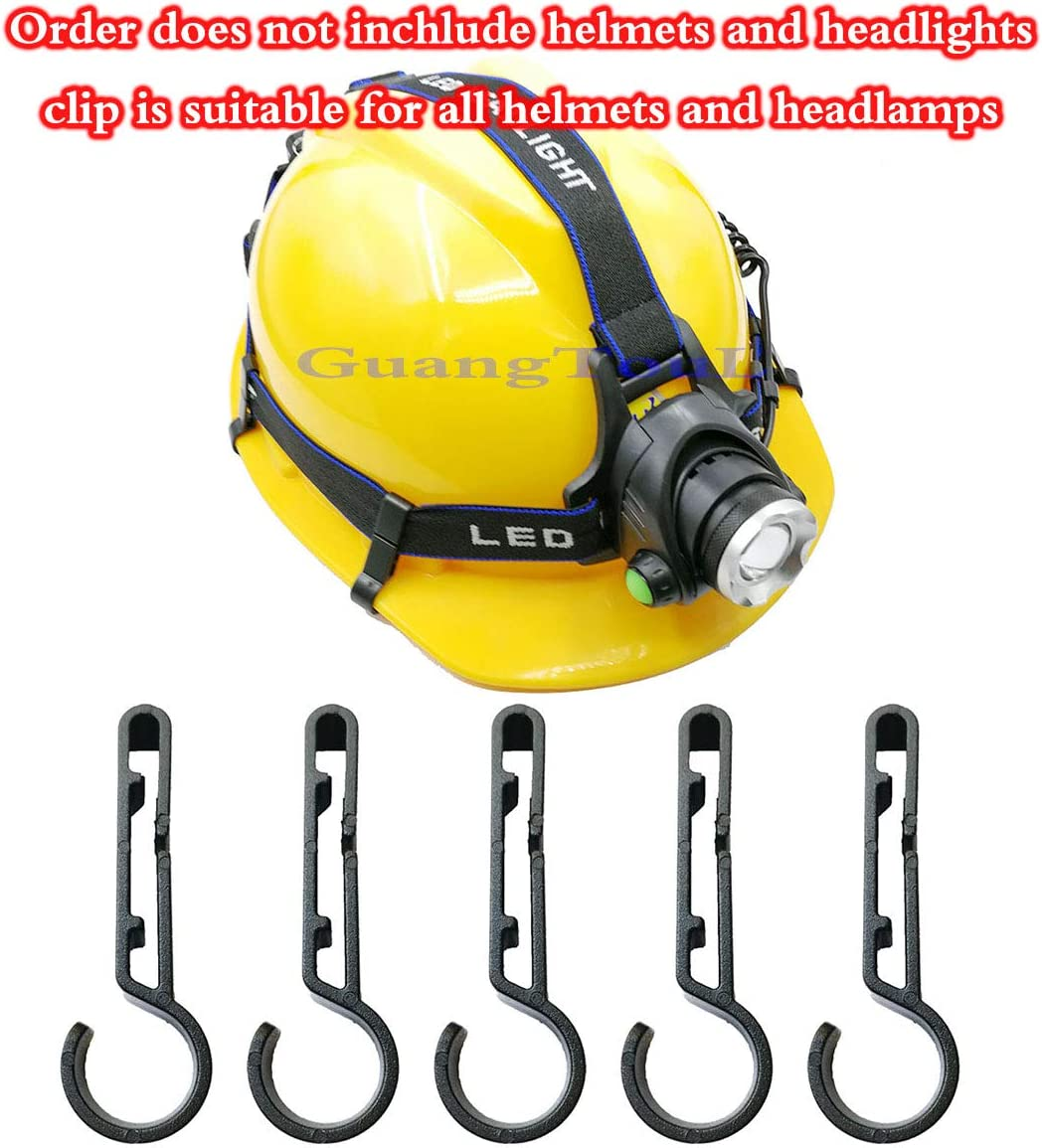 suitable for various headlamps helmets andSombrero duro GuangTou 32 pcs Headlamp Clip for Sombrero duro helmet headlamp clip