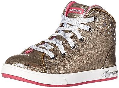 Skechers Kids Shoutouts-Zipsters Sneaker (Little Kid/Big Kid),Gunmetal,
