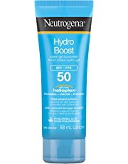 NeutrogenaHydro Boost Water Gel Face Sunscreen SPF 50 with Hyaluronic Acid, Non-Comedogenic, Water Resistant, 88 mL Travel Size