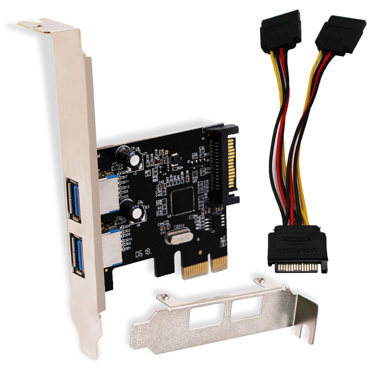 LinksTek PCI Express(PCIE) USB 3.0 Card-Superspeed 5Gbps 2 U