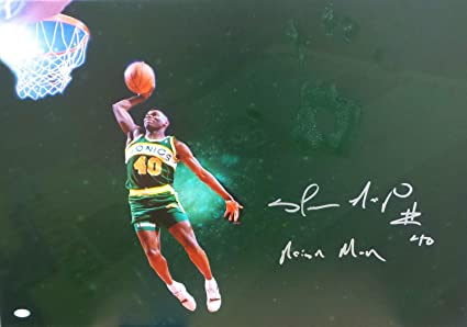 a0f9166d175 Shawn Kemp Original Hand Print Unstretched Canvas Signed Authentic  Handprint - JSA Certified - Autographed NBA