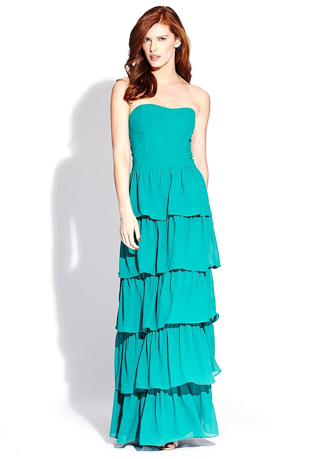 ISABEL LU Strapless Maxi Dress Jade M