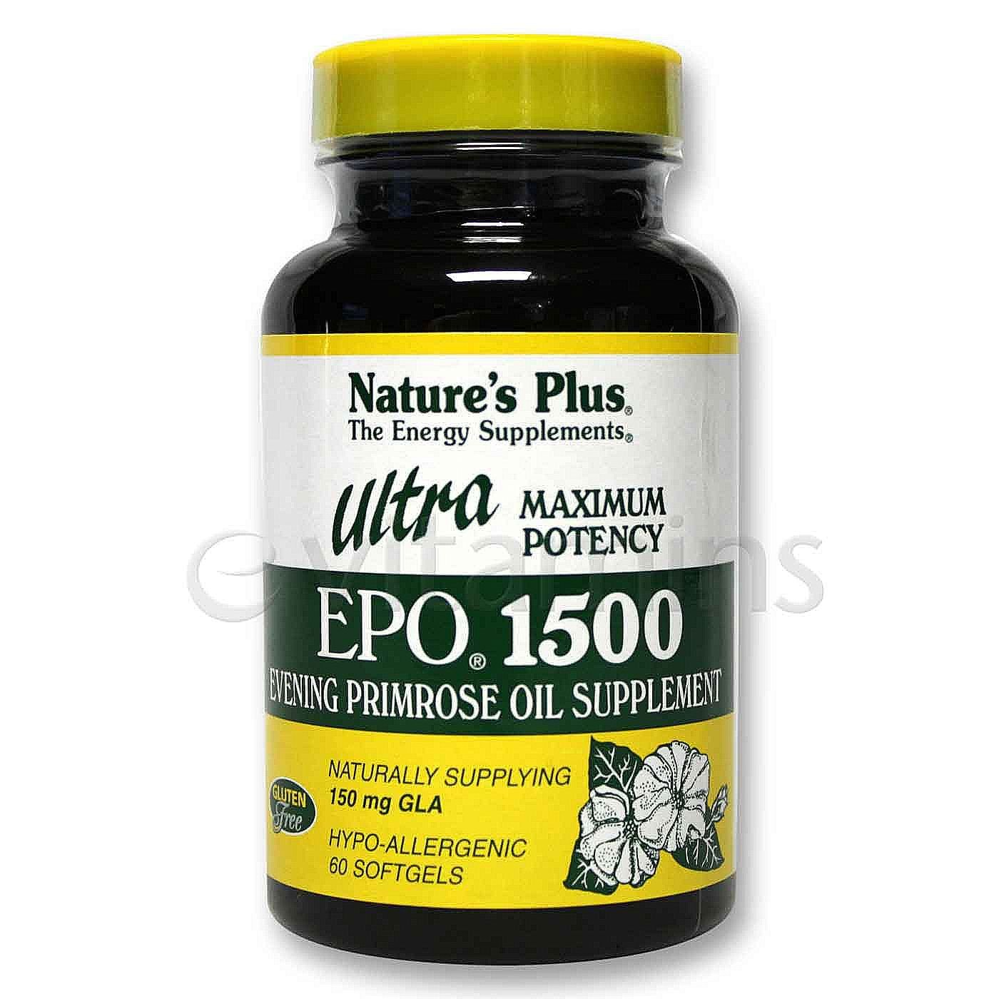 Amazon.com : Ultra EPO 1500mg Natures Plus 60 Softgel by Natures Plus : Beauty