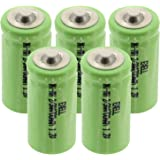 5x Exell 1.2V 2/3AA Size 700mAh NiMH Rechargeable Button Top Batteries use w/ electric mopeds meters two radios electric razors toothbrushes cameras mobile phones pagers medical instruments