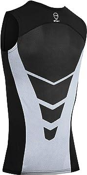 AMZSPORT Camiseta sin Mangas de Compresi/ón para Hombre Capa Base Secado R/ápido Deportes Chaleco para Correr