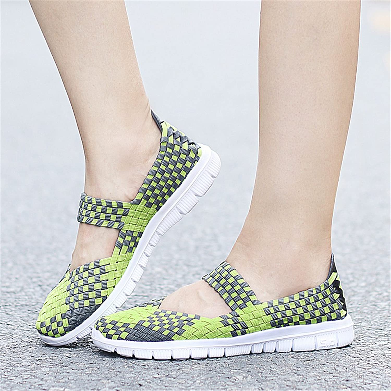 YMY Women's Woven Sneakers Casual Lightweight Sneakers - Breathable Running Shoes B07DXQFJHH Parent