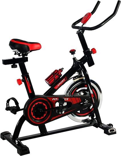 FIT-FORCE Bici estática Precio Económico con inercia de 15kg Modelo FFEBS15KG: Amazon.es: Deportes y aire libre
