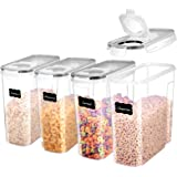 ME.FAN Cereal Storage Containers [Set of 4] Airtight Food Storage Containers 4L(135oz) - Large Kitchen Storage Keeper…