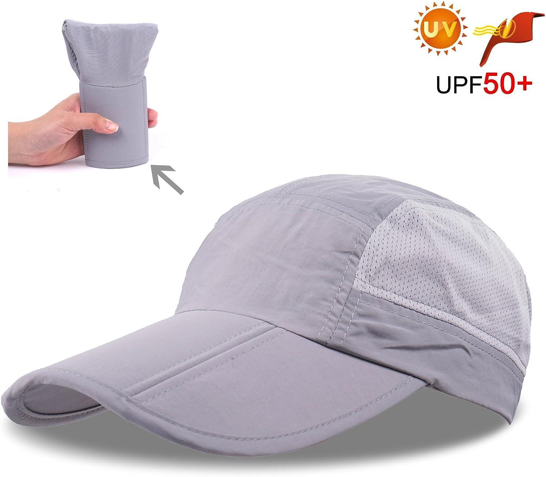 ZEARE Schnell Trocknende wasserdichte Breathable Hut-faltende Baseballm/ütze Sonnenhut-leichte Fernlastfahrer-Hut-Sport-Kappe Unisex