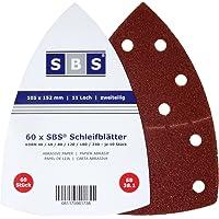 SBS Hojas de lija con velcro, 60 unidades