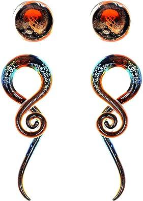 Amazon.com: Awinrel - Dilatador de oreja de cristal en ...