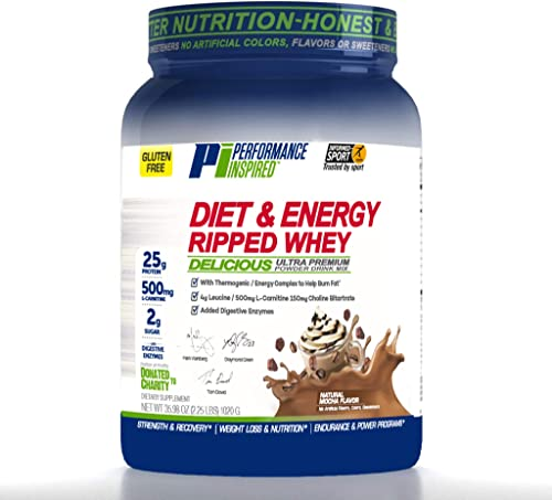 Performance Inspired Nutrition Ripped Whey Protein, Mocha, 2.25 LBS