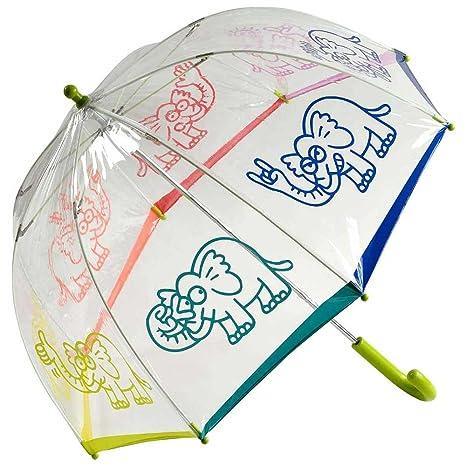 Paraguas kukuxumusu niños transparente elefante