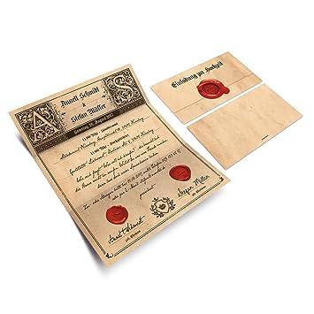 Hochzeitseinladungen 30 Stuck Siegelbrief Hochzeitskarten