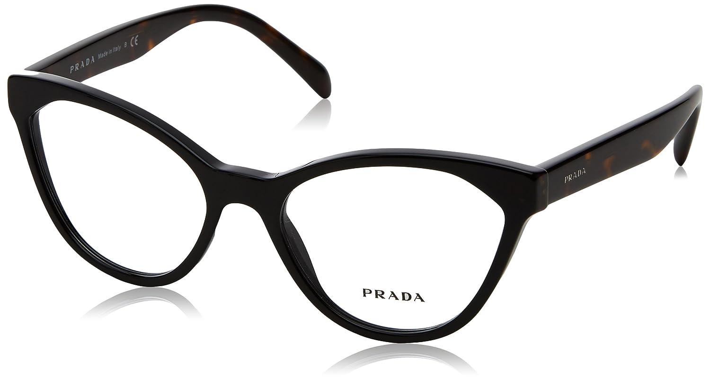 Prada PR02TV Eyeglass Frames 1AB1O1-54 - Black PR02TV-1AB1O1-54 at ...