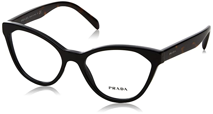 04340edfcf9 Image Unavailable. Image not available for. Color  Prada PR02TV Eyeglass  Frames 1AB1O1-54 - Black ...