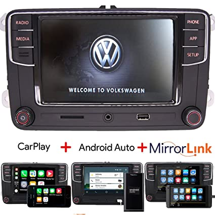 Amazon com: RCD330 Car Audio Radio Carplay,Android Auto,BT,AUX,RVC