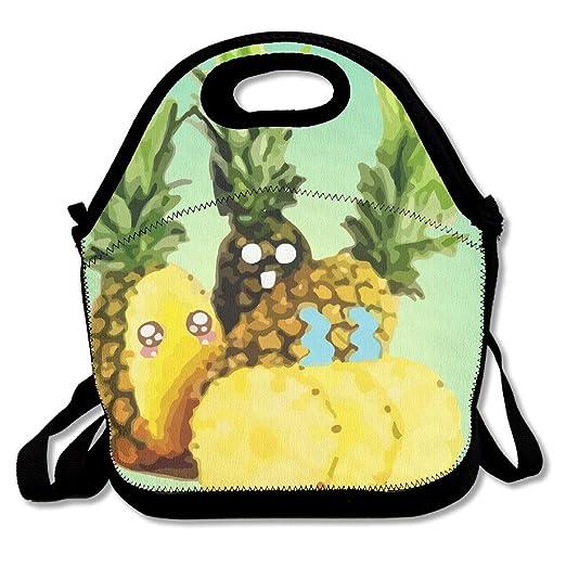 Pi/ña personalizado con aislamiento bolsa para el almuerzo fiambrera neopreno Gourmet Cooler c/álido bolsa de picnic para la escuela oficina de trabajo