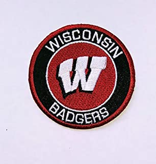 8 Iron On Fabric Appliques Badgers Sports Patches University Of Wisconsin