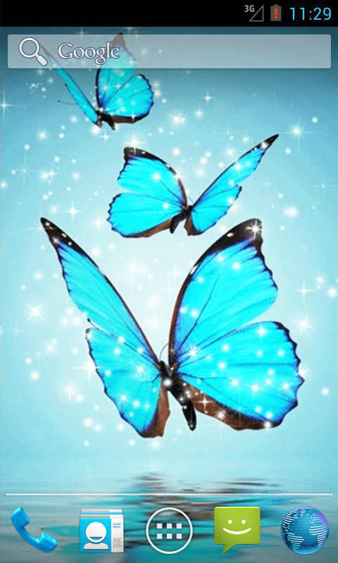 Amazoncom Cyan Butterfly Live Wallpaper Appstore For Android