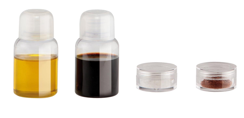 IRIS 949870 Set aceitera, vinagrera y 2 Botes para Especias, Sintético, Blanco, 3x15x12 cm: Amazon.es: Hogar