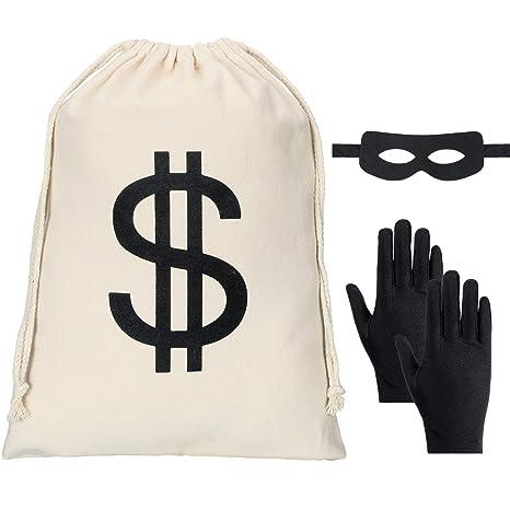 Conjunto de Disfraces de Ladrón, Incluye Bolsa de Dinero con ...