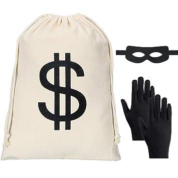 Amazon.com: Juego de disfraz de Robber, incluye una bolsa de ...
