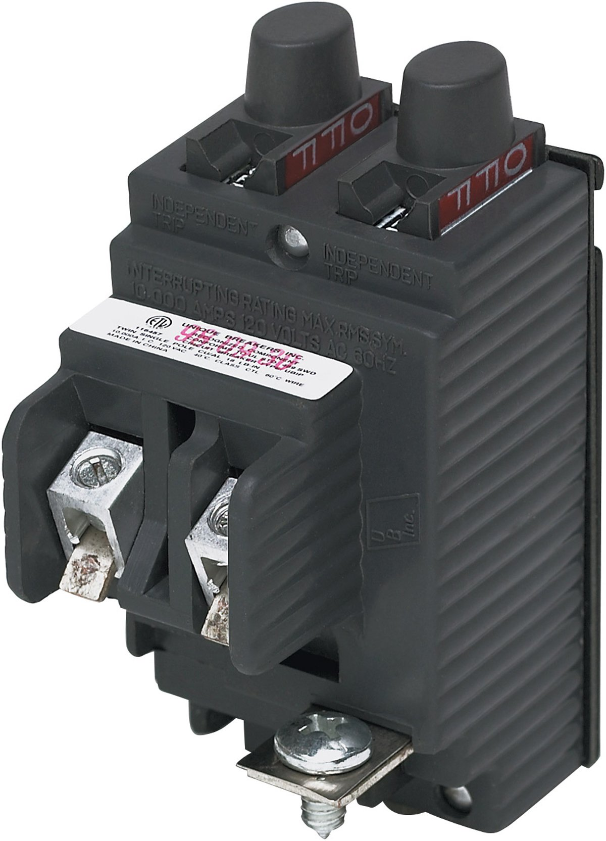 UBIP2020-New Pushmatic P2020 Replacement.  Twin 20 Amp Circuit Breaker Manufactured by Connecticut Electric.