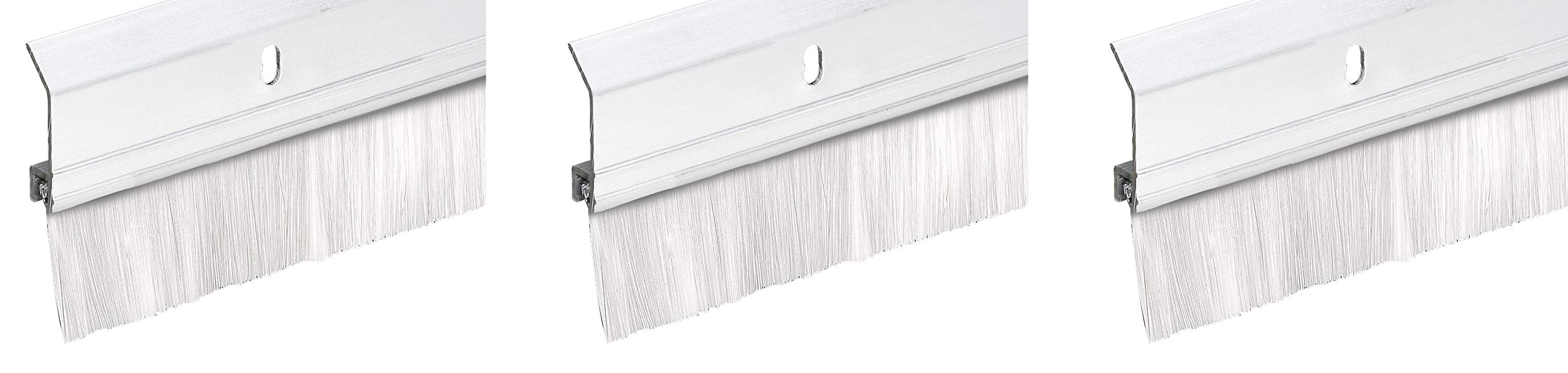 Frost King SB36W 2'' x 36'' Extra Aluminum/Brush Door Sweep, White (Thrее Рack, White)