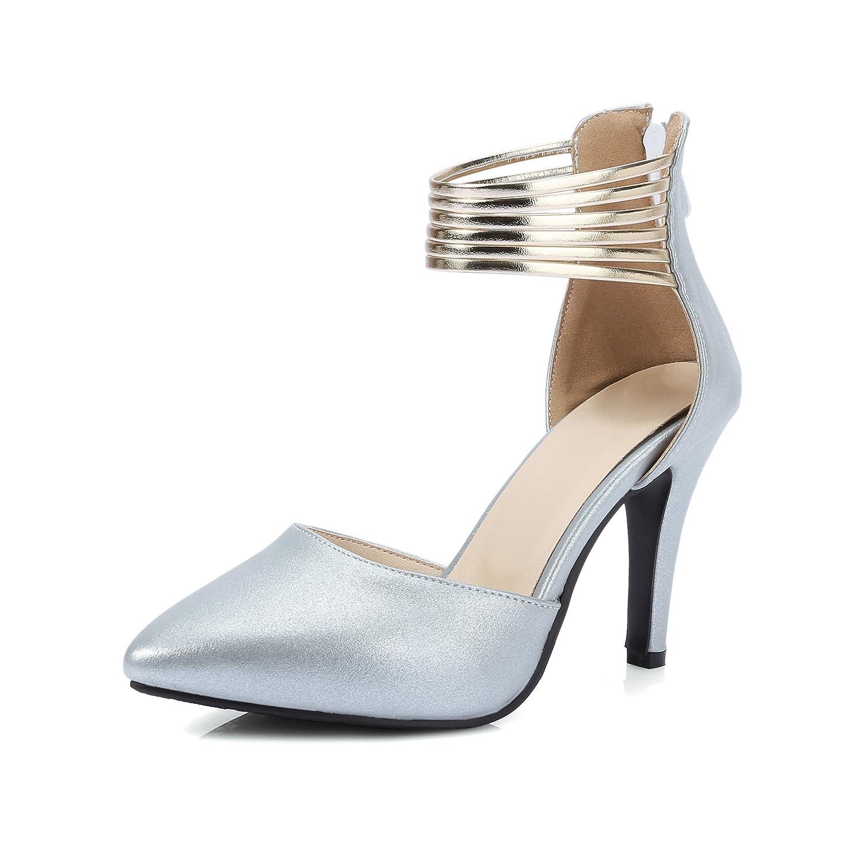 QIN&X Frauen Stiletto Spitze Zehe Stiletto Frauen Heels Sandalen Weiß 307828