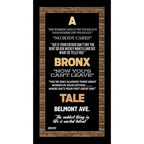 A Bronx Tale Quotes Beauteous A Bronx Tale Quotes 48x48 Framed Subway Sign At Amazon's Sports