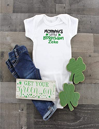 af1ba869c Mommy's Little Leprechaun Personalized boys bodysuit Funny shirt Best  friend gift Gift for niece Gift for nephew grand kid Irish kiss me I'm  Irish first St ...