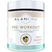 Alani Nu Pre Workout Energy Powder for Men & Women, Pre-Workout Supplement w/30 Servings, 10.55 OZ, 299 GÖ (Carnival…