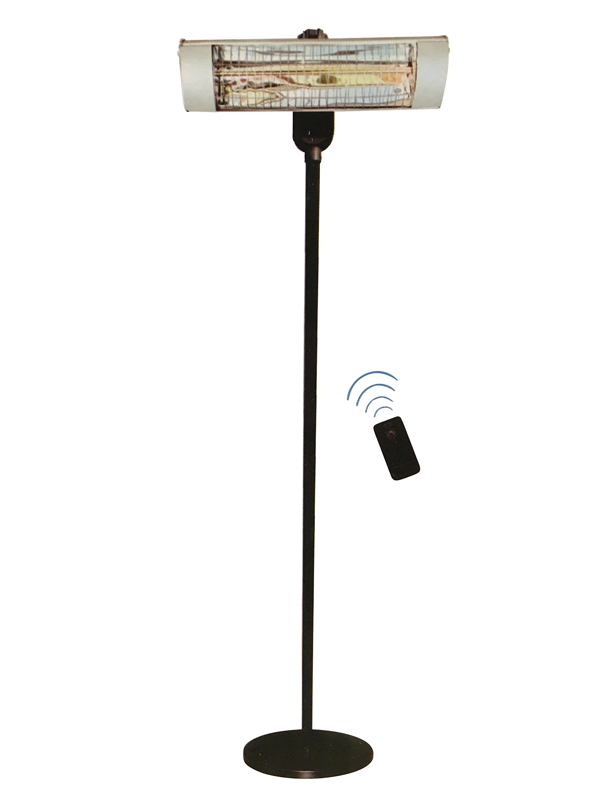 Steel Workers Extra Tall Freestanding Electric Indoor/Outdoor Infrared Patio Heater with Remote 1500 Watts