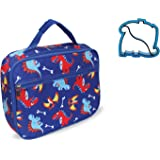 Dinosaur Lunch Box with Dino Sandwich Cutter by Keeli Kids