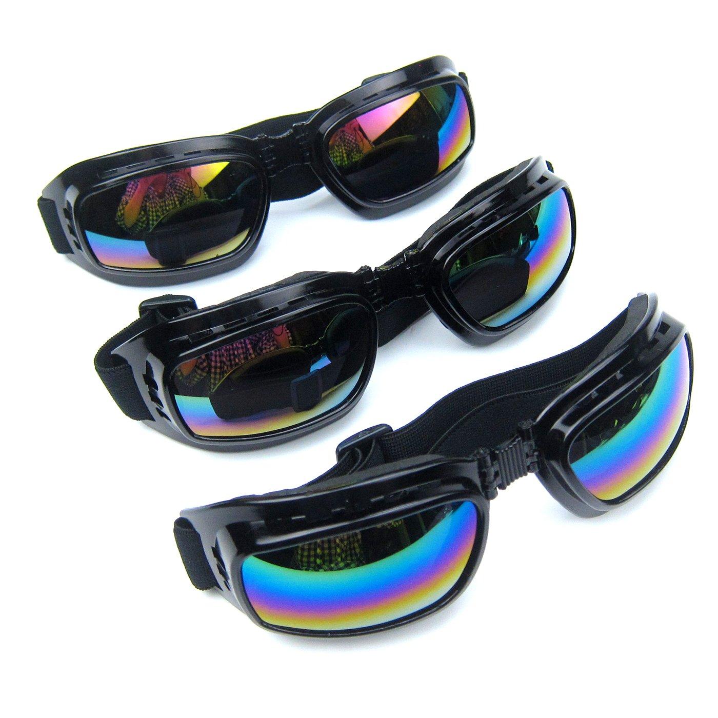 Alfie Pet by Petoga Couture - Brio 3-Piece Set Sun Glasses for Dogs and Cats - Color: Black