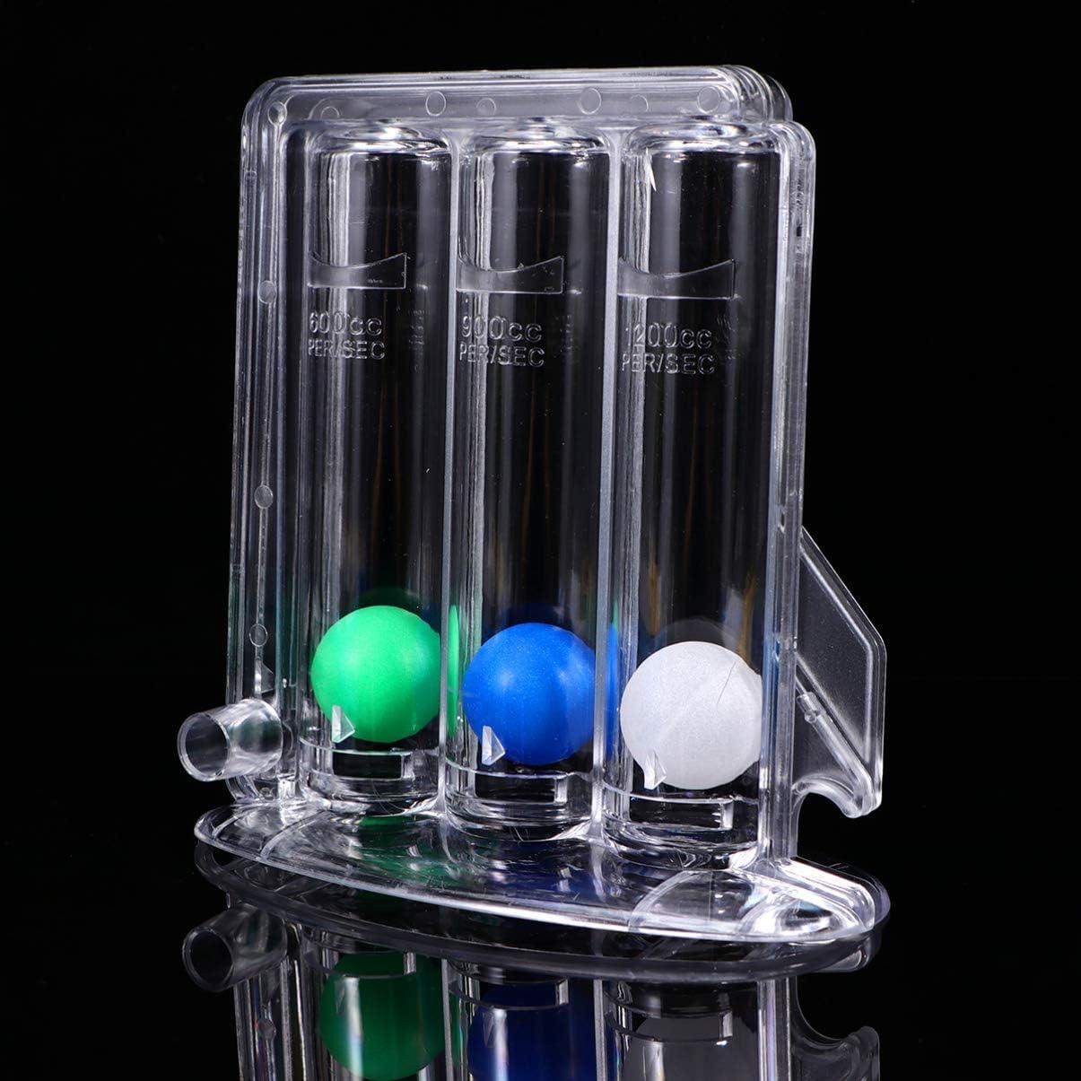 Atemtrainingsger/ät Atemtrainingsger/ät Vitalkapazit/ät Drei-Ball-Incentive-Trainingsger/ät Lungentrainingsger/ät f/ür zu Hause iplusmile Incentive-Spirometer