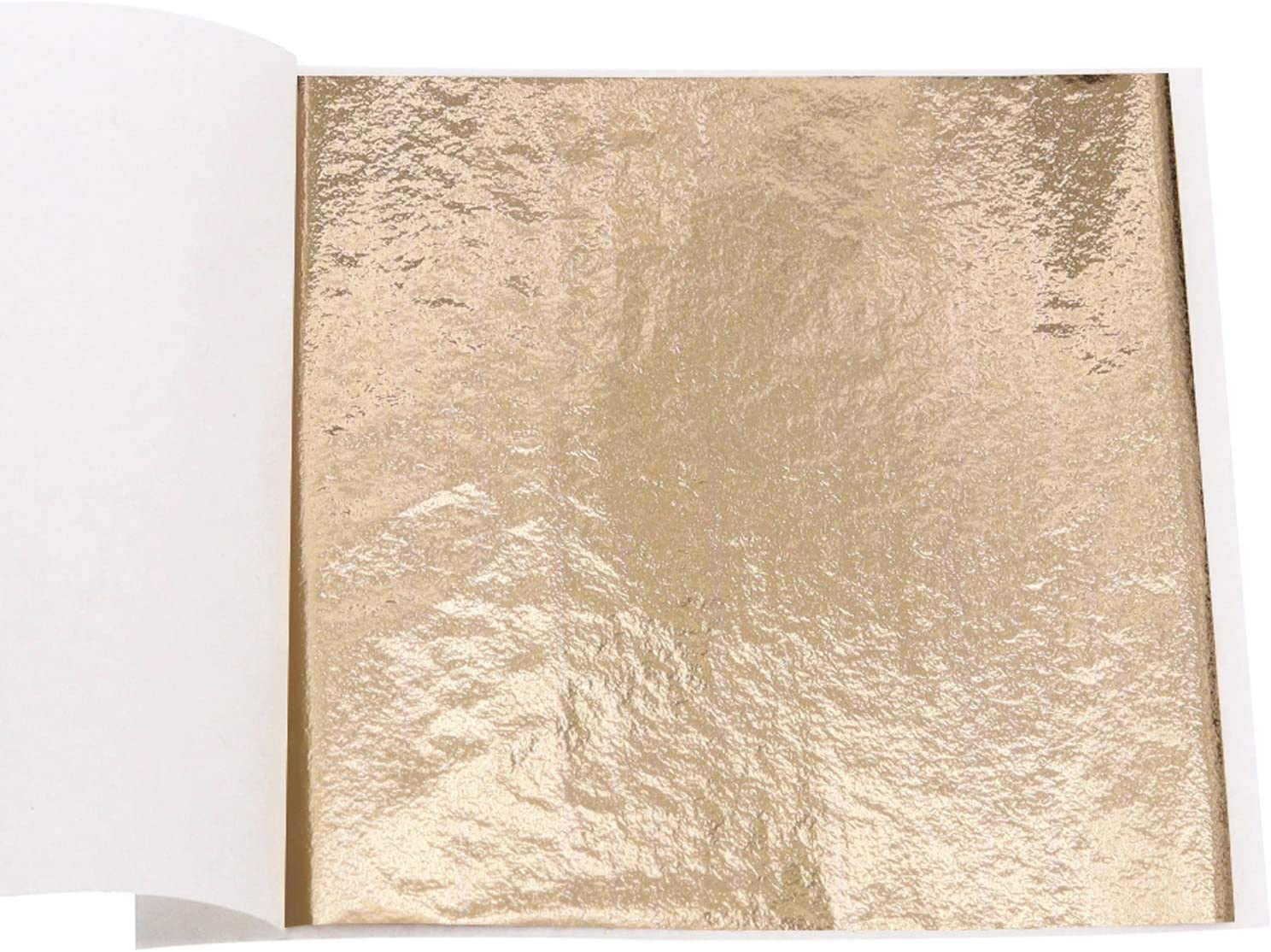 Imitation Gold Leaf Sheets - KINNO Champagne Gold Foil Multipurpose for Home, Wall, Frame, Ceiling, Furniture Decoration, 100 Sheets 3.15 by 3.35 Inches