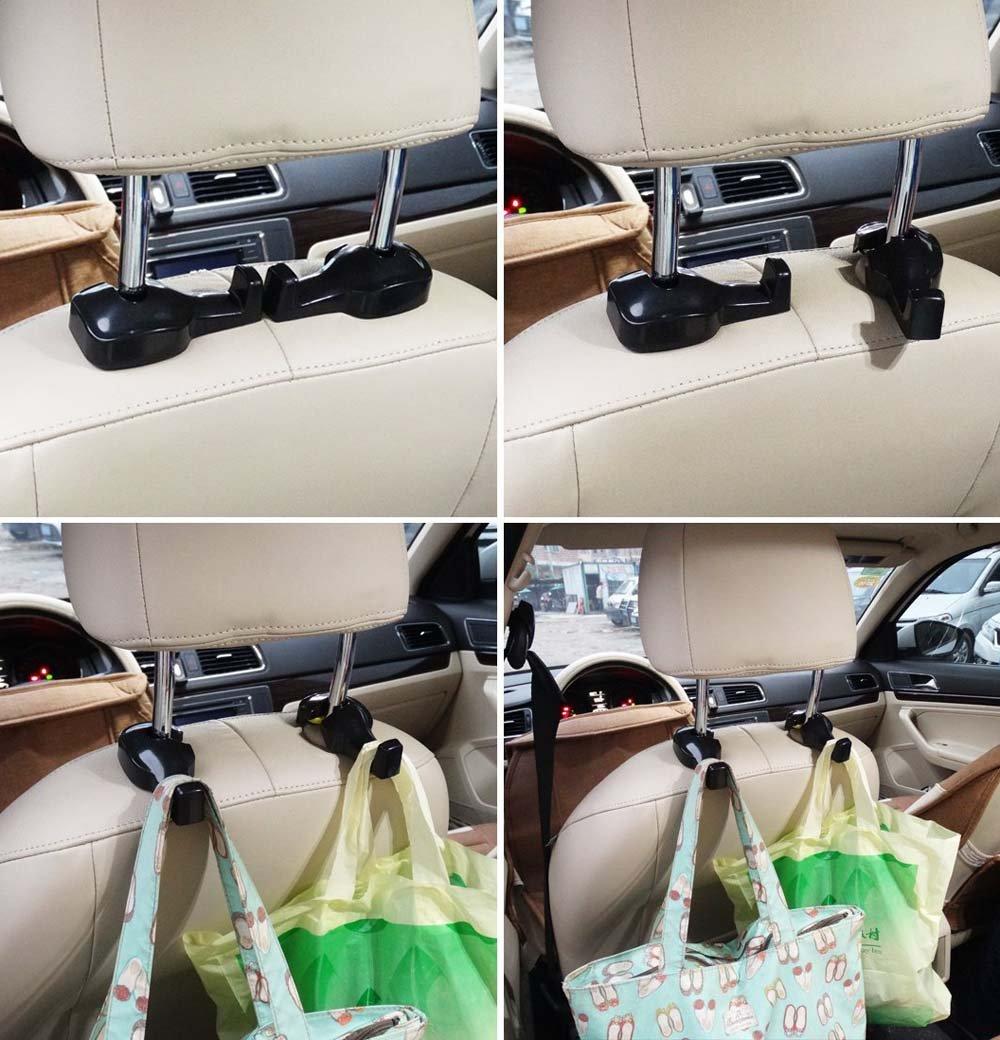 Crochets universels escamotables d/'appui-t/ête de voiture de STANDARD pour cintre//sac /à main//v/êtement//manteau lot de 2