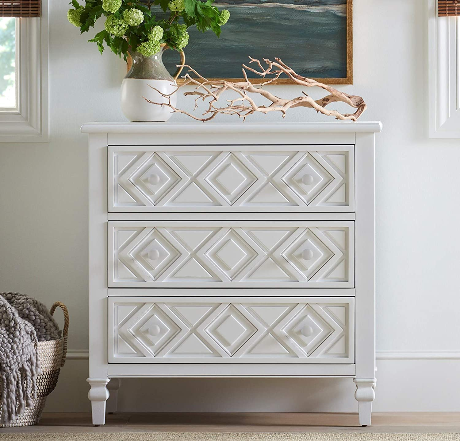 Young House Love 811C845 Diamond Chest White
