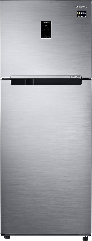 Samsung 415L 3 Star Inverter Frost Free Double Door Refrigerator  RT42M553ES8/TL, Elegant Inox, Convertible